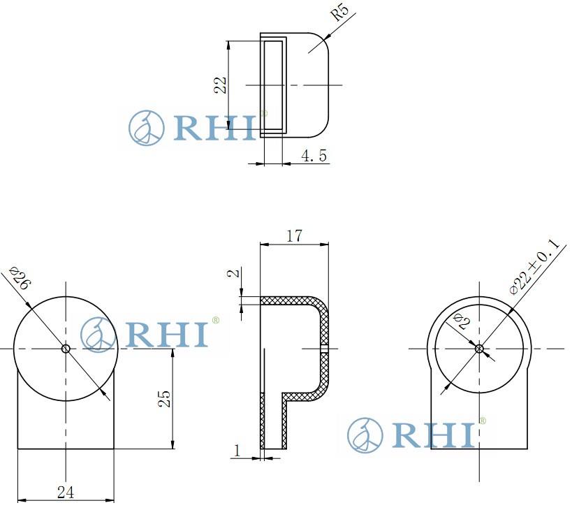 蓄电池铜排保护盖规格图